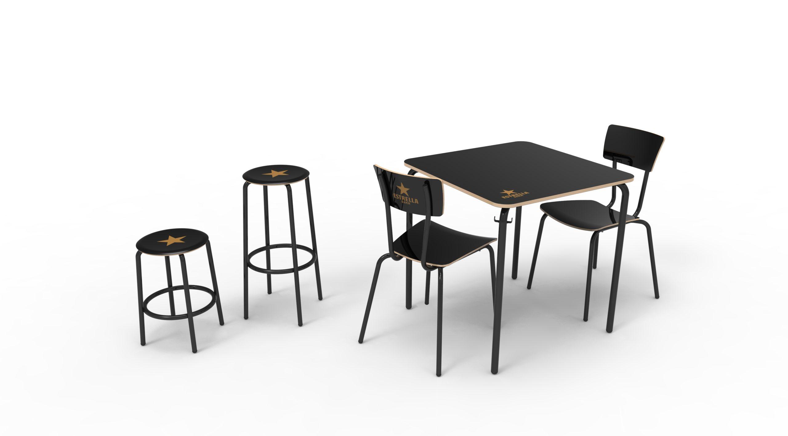Diseño producto sillas y mesa Fórmica