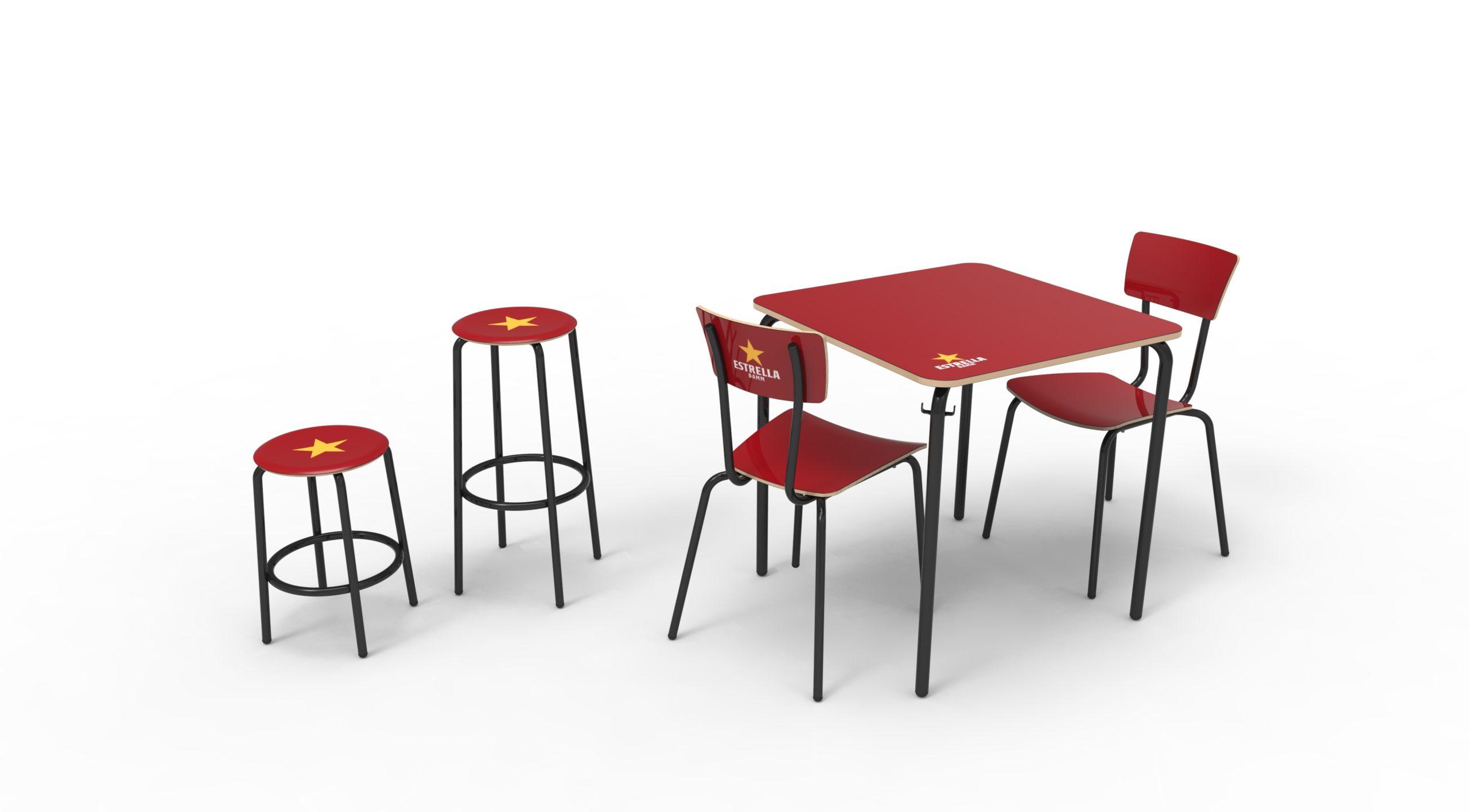 Diseño de sillas y mesas de Fórmica