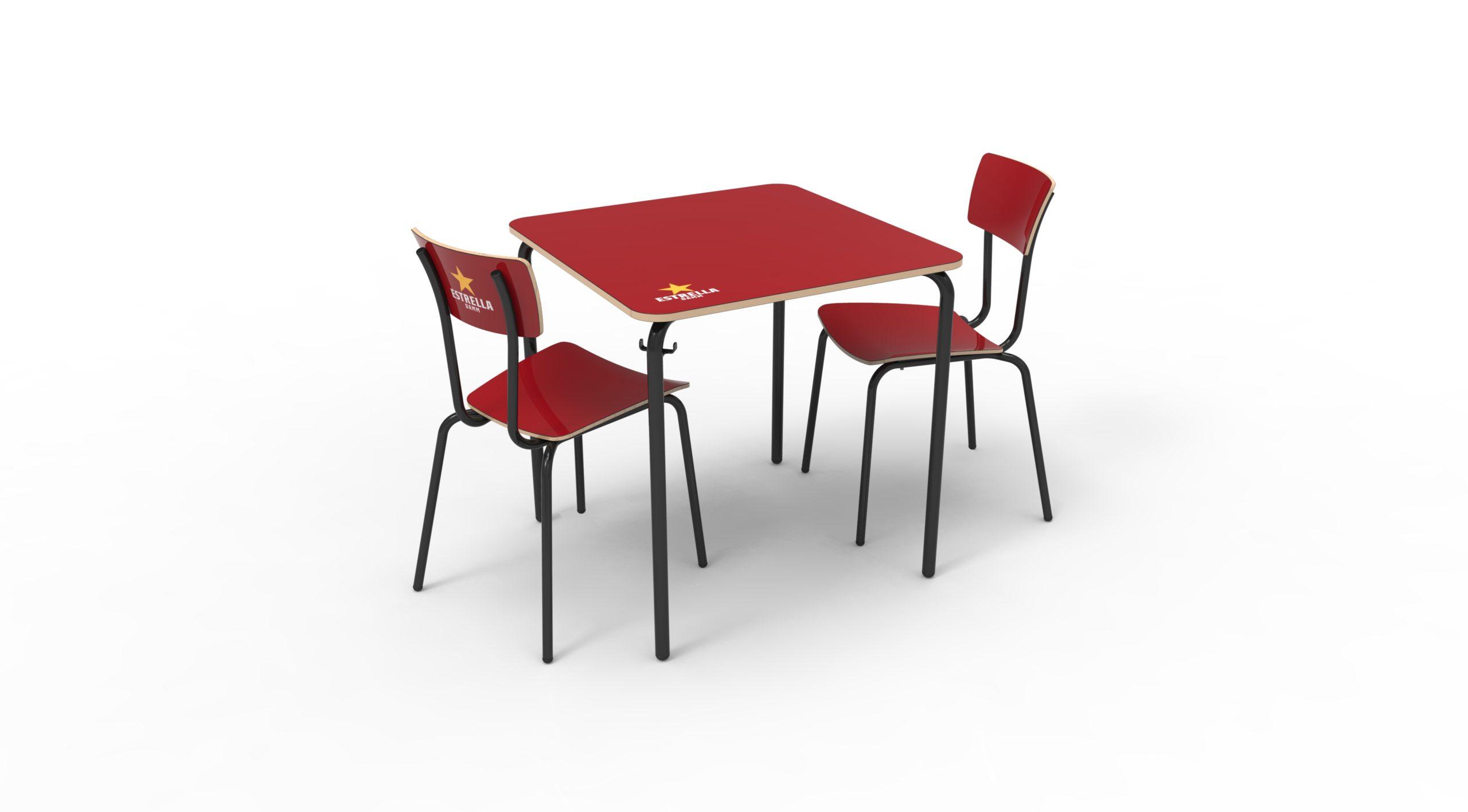 Diseño industrial sillas y mesa Fórmica