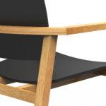 Diseño industrial silla de madera